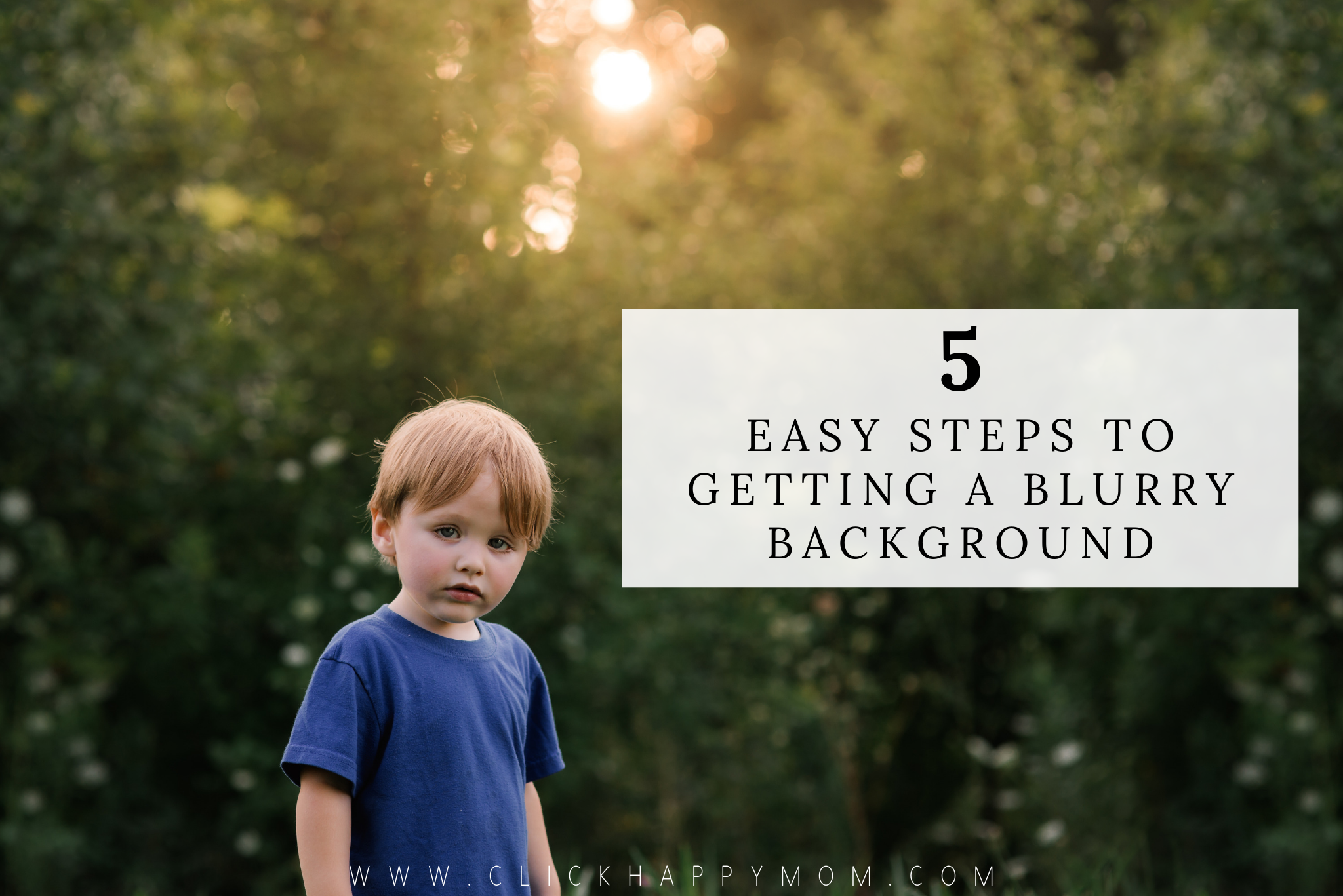 5 Easy Steps to Getting a Blurry Background